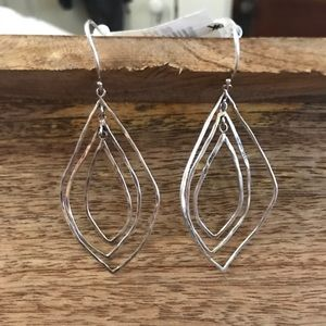 Jewelry - NWT: Long Sterling Silver Earrings 🦋🦋🦋